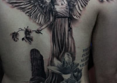 IMG_0781 Robin Labreche Tattoo FYT Cartidges Black and Grey tattoo angel