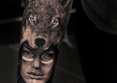 IMG_2278 Robin Labreche Tattoo FYT Wolf Woman