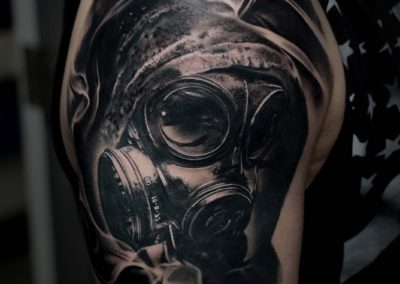 IMG_8016 Robin Labreche Gas Mask Black and Grey